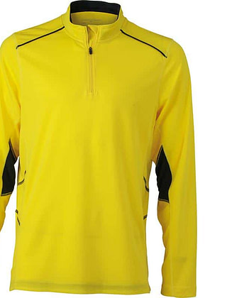 Tee-shirt_homme_ML_citron_gris-fer_Devant_JN474