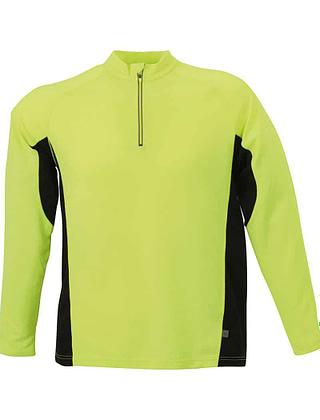 Tee-shirt-sport-homme-jaune-fluorescent-noir-JN307