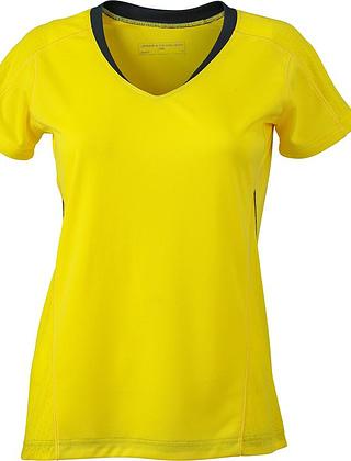 Tee-shirt_de_course_femme_MC_citron_Devant_JN471