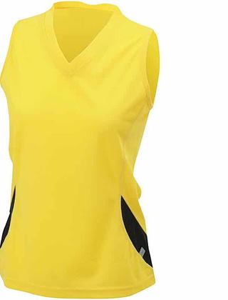 Tee-shirt-sport-femme-jaune-noir-JN315